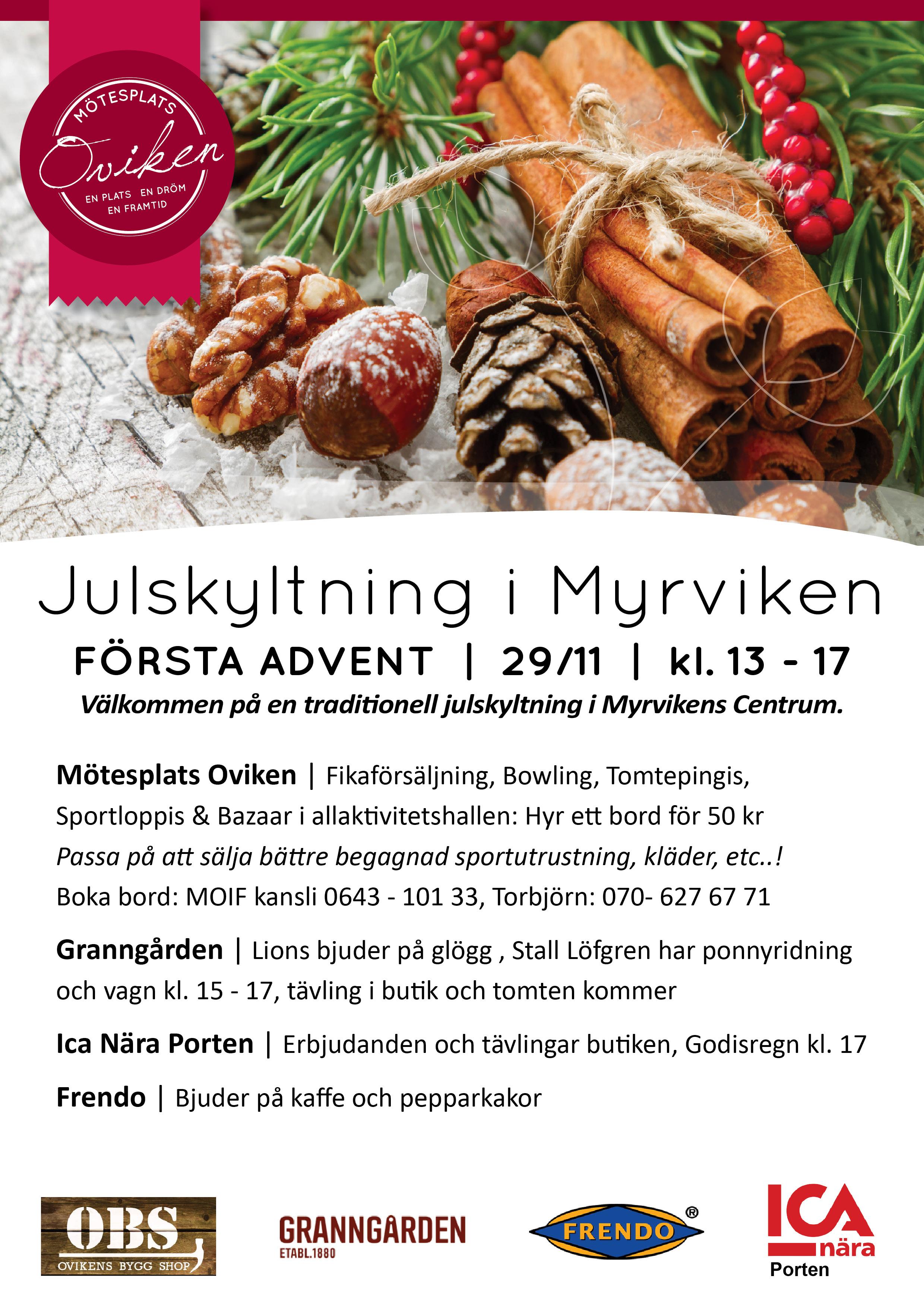 Julskyltning i Myrvikens Centrum