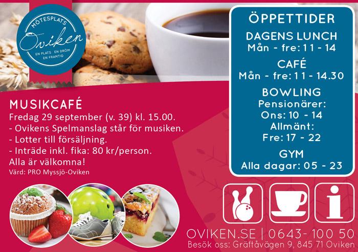 Musikcafé med Ovikens Spelmanslag