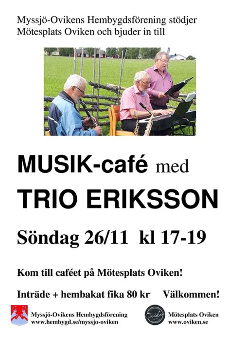 MUSIK-café med TRIO ERIKSSON