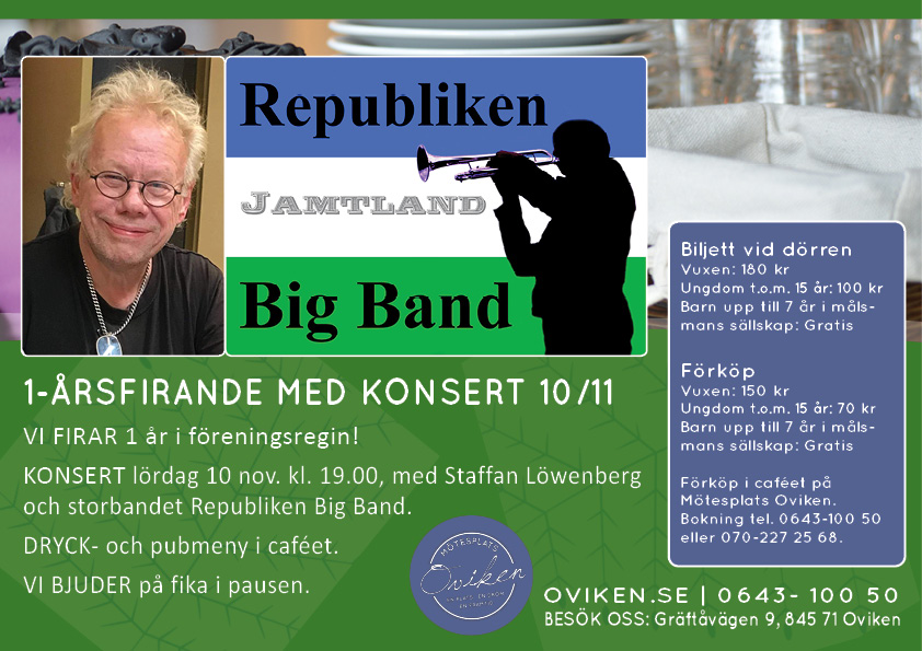 KONSERT med Staffan Löwenberg & Republiken Big Band