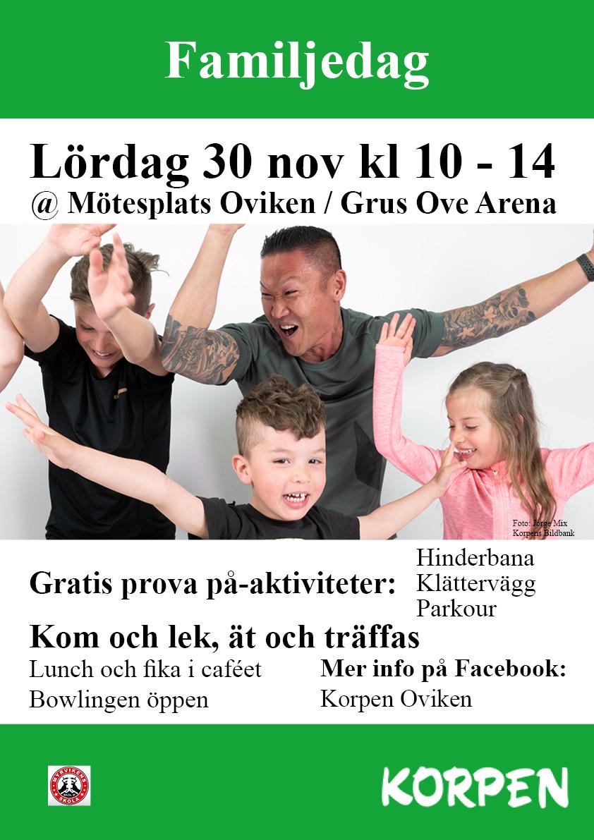 Familjedag @ Mötesplats Oviken / Grus Ove Arena
