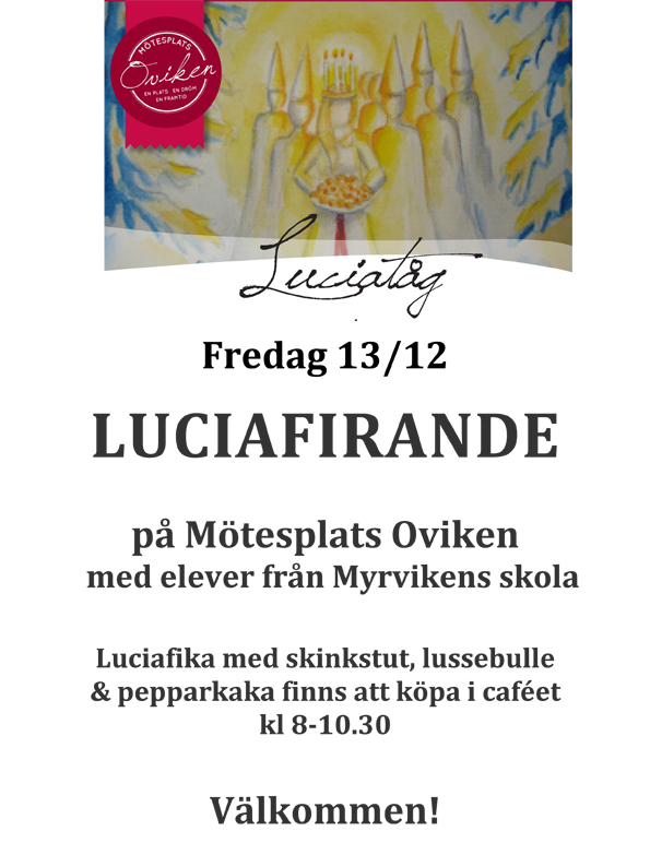 Luciatåg på Mötesplats Oviken