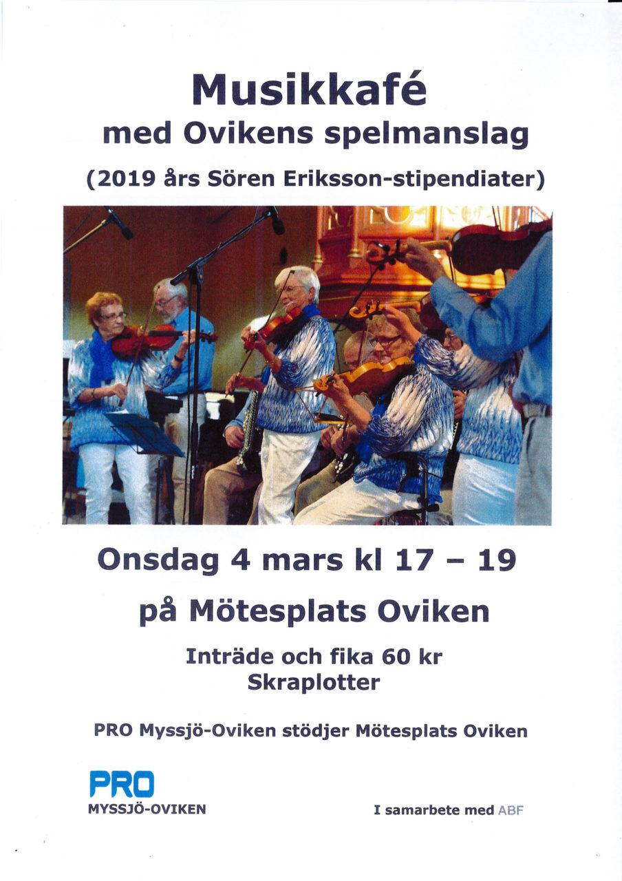 Musikkafé med Ovikens Spelmanslag