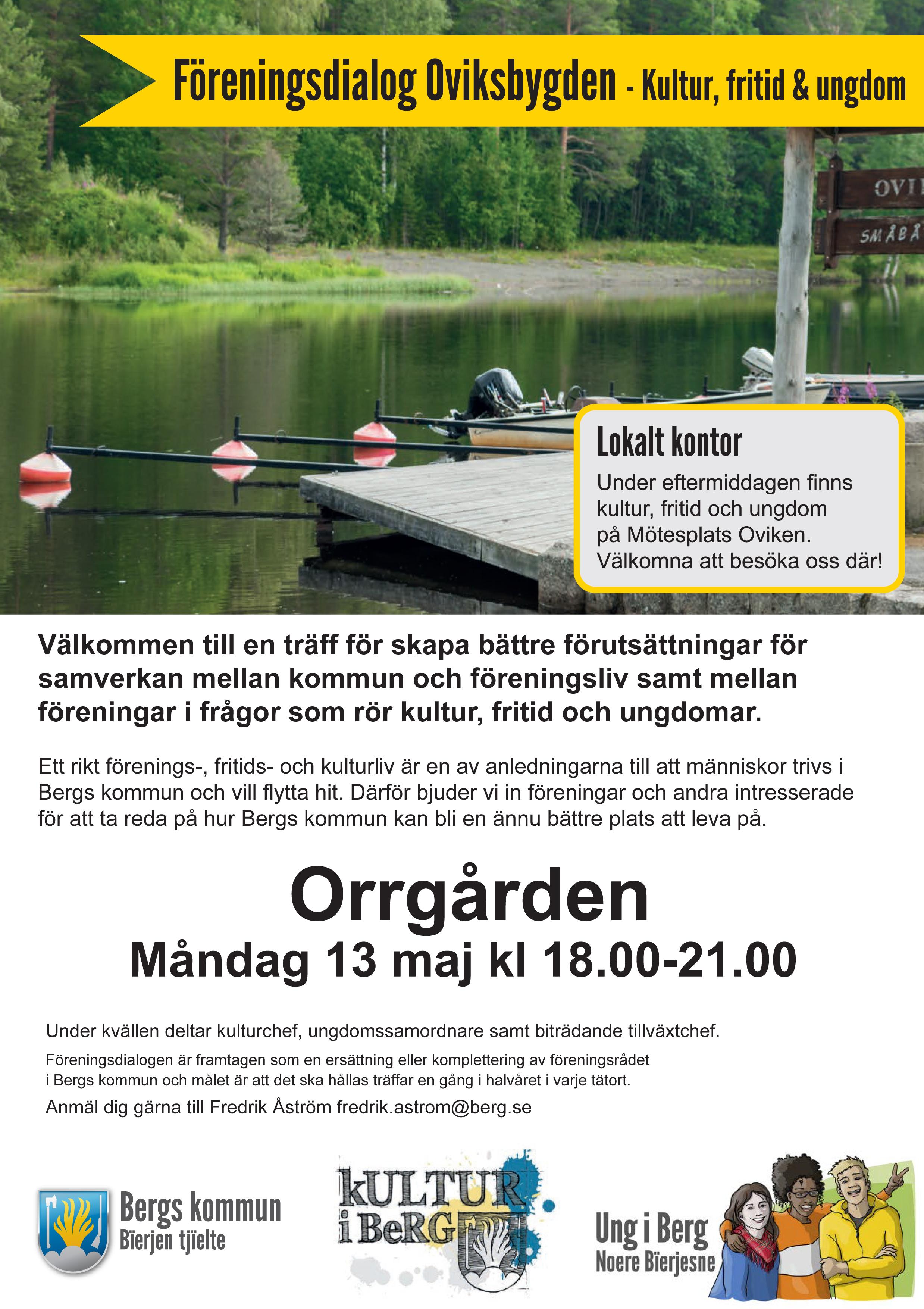 Bergs kommuns föreningsdialog i Oviksbygden - Kultur, fritid och ungdom