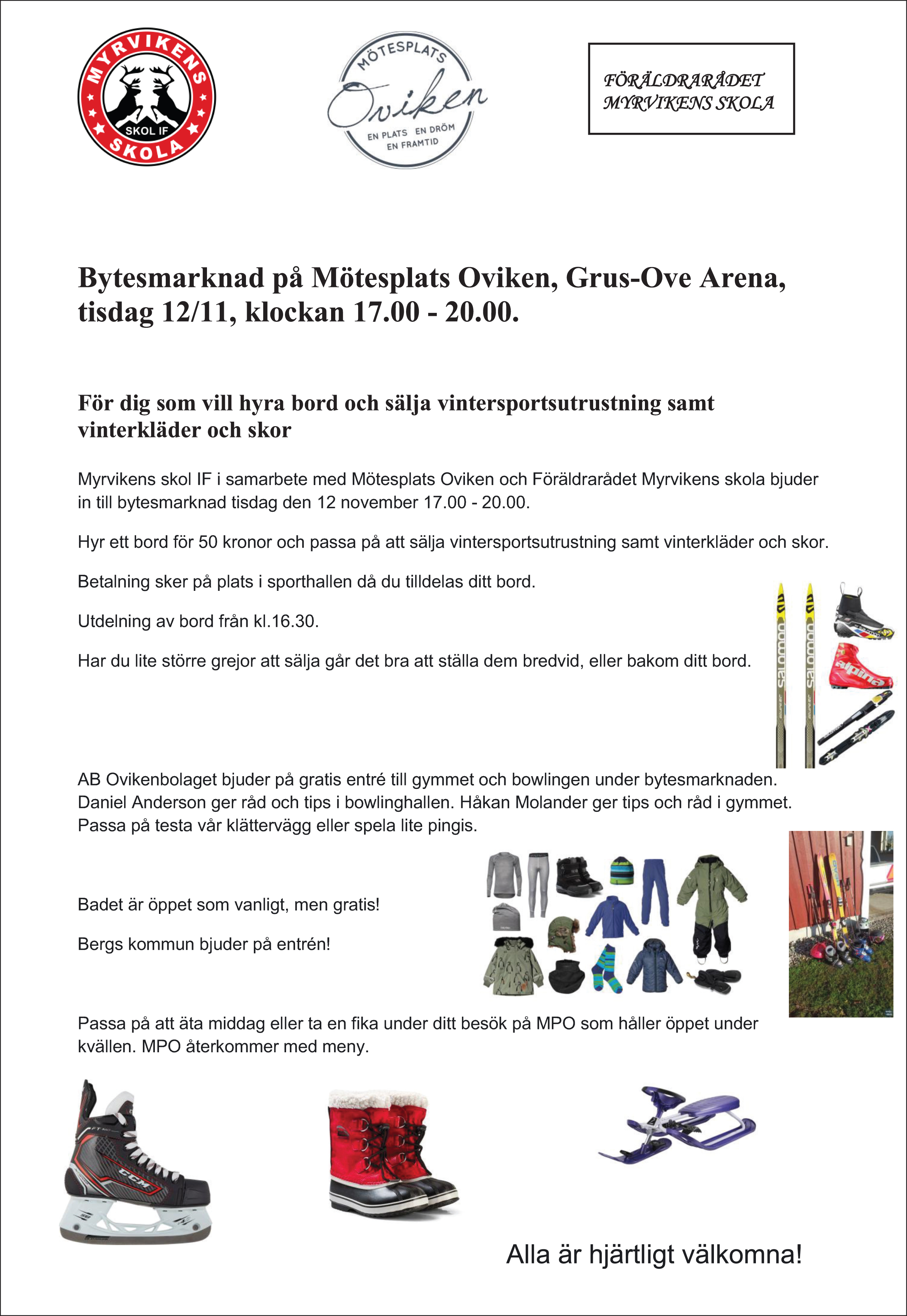 Bytesmarknad och mycket mera på Mötesplats Oviken